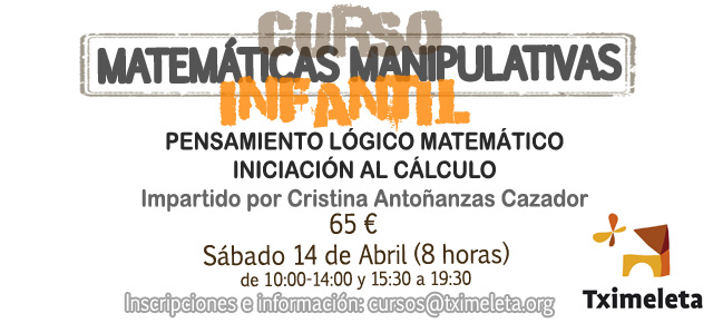 MATEMÁTICAS MANIPULATIVAS EN INFANTIL