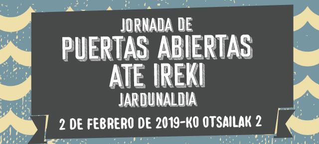 Jornada de Puertas Abiertas 2019 Ate Ireki Jardunaldia